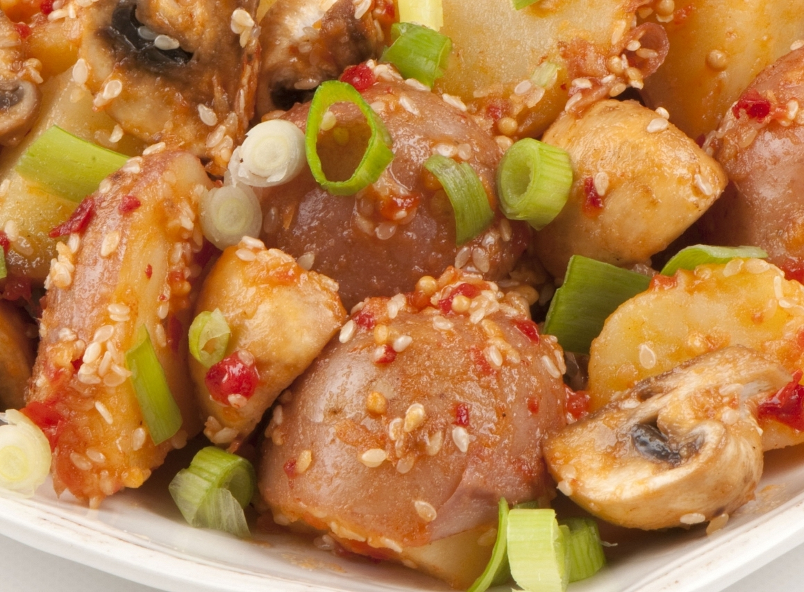 Hot and Spicy Potato salad